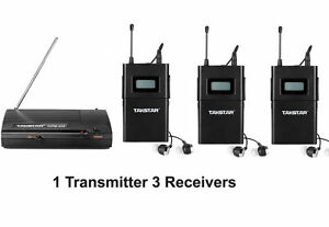 Takstar WPM-200 Stereo Monitor System 1* Transmitter +3* Receivers 780-789Mhz G5