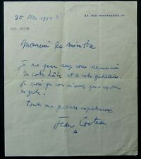 Jean COCTEAU autographe