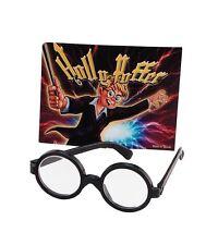 Harry Potter Boy Wizard Geek Nerd Wally Style Black Round Fancy Dress Glasses