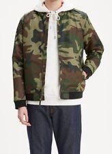 Levis Mens Camo Bomber Jacket Size M NEW