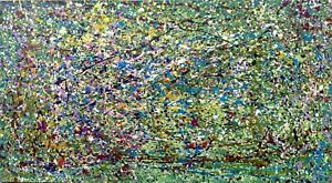 """Abstract Painting hand made on canvas """"SUMMER"""""""