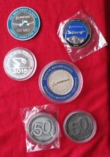 Lot of 6 Boeing Coins Engineering 737 Max First Flight 777X B & W Seaplane Nice