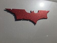 BATMAN LARGE EMBLEM STAINLESS STEEL RED REFLECTIVE FINISH NEW!  ~ FREE SHIP ~