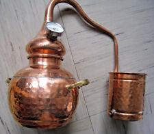 Gebrauchtware: Destille Alambic Classico aus Kupfer 2 Liter mit Thermometer