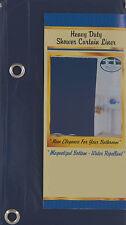 SOLID NAVY BLUE BATHROOM VINYL PLASTIC SHOWER CURTAIN LINER WITH METAL GROMMET
