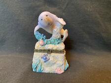 Ceramic Manatee Trinket Box