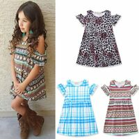 Toddler Kids Baby Girls Summer Casual Dress Princess Party Pageant Tutu Dresses
