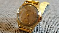 Vintage Rare Junghans Automatic Wristwatch Watch Gold Plated