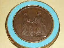 MEDAILLE CHEMIN DE FER DE STRASBOURG A BALE INAUGURATION LOUIS PHILIPPE I  1841