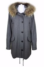 Blonde No.8 Damenmantel Aspen Wool Vintage Echtfell Parka - Grau Gr.40