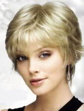 FIXSF340 sexy short ash blonde straight fashion hair wigs for women health wig