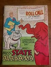"""Oct 30 1982 Miss State vs Alabama Official Program """"Government Appreciation Day"""""""