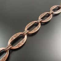 1M Antique Red Copper Tone Circle Handmade Sweater Necklace Link Chain
