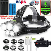 250000LM T6 LED Headlamp Rechargeable Head Light Flashlight Torch Lamp 18650 *