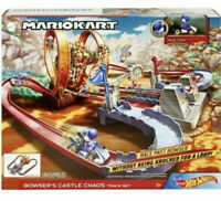 Hot Wheels Mario Kart Bowsers Castle Chaos Track Set First Appearance Blue Yoshi