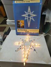 Illuminated Light Up Bethlehem Star Window Decoration - USED ONCE - NO CUPS