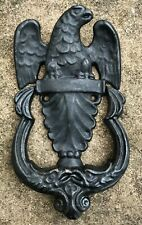 "Vintage Cast Iron American Federal Style Eagle Door Knocker Robert Emig 7"" tall"