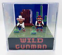 Wild Gunman 3D Cube Handmade Diorama - Shadowbox - Nintendo - Fanart - Arcade