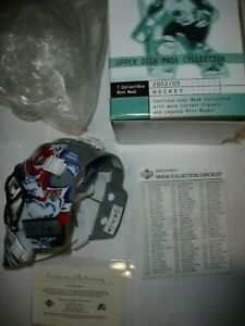 Upper Deck 2002-03 NHL Mask Collection Patrick Roy Signed Mini Mask Avalanche