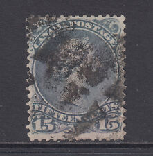 Canada Sc 29 used 1868 15c gray violet Large Queen F-VF