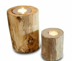 Candle Holder Wood Shabby Lantern Deco Tealight Holder Lantern Set