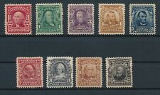 U.S. #300, #302-#308 & #319; MH VF-XF; RICH COLORS; A FEW REAL BEAUTIES; CV $380