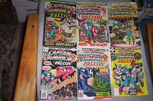 Lot of 10 Marvel Black Super Heroes 1972-1976 BLACK PANTHER,LUKE CAGE,FALCON