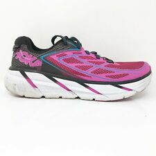 Hoka One One Womens Clifton 3 1012045 ANFC Pink Running Shoes Lace Up Size 8.5