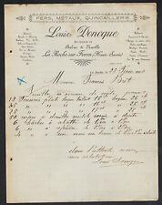 """LA ROCHE-sur-FORON (74) QUINCAILLERIE """"RABAZ & MAVILLE / Louis DONCQUE"""" en 1905"""
