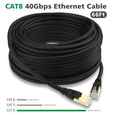 Cat8 7 Ethernet Cable, Outdoor&Indoor, 50Ft Heavy Duty Lan Network Patch Cord