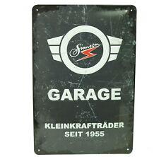 Blechschild Simson Garage für S51 S50 KR51 Schwalbe Duo Star Sperber Geschenk