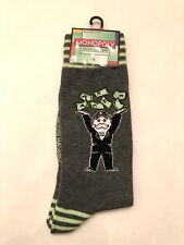 New Monopoly Mens Pair Of Novelty Crew Socks With MONEY MAN Size 6-12