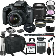 Canon EOS 4000D / Rebel T100 SLR Camera+ 18-55mm Lens+ 128GB + 20PC Bundle