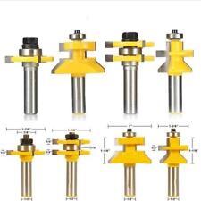 4pcs Languette V -Rainure Encoche Routeur Bit Tenon Fraise à CNC -1/2'' Tige