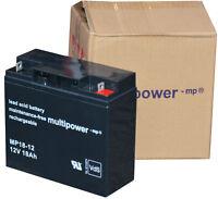 MULTIPOWER AKKU 12V 12 VOLT 18 AH  MP18-12 FOR UPS USV MASTERGUARD S5215 #MP1812
