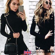UK donna manica lunga vestito aderente pacchetto FIANCO formale da festa party