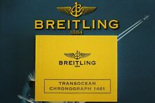 BREITLING PILOT WATCH INSTRUCTION MANUAL BOOK GUIDE BOOKLET TRANSOCEAN 1461 Y