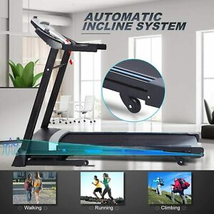 ANCHEER Folding Treadmill, 3.25HP Electric Motorized Automatic Incline Running M