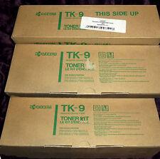 KYOCERA TK-9  No 366587= Triple Pack - 3 off Packs -  FS1500 3500 6K GENUINE NEW