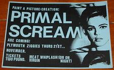 PRIMAL SCREAM ~ AUTHENTIC ORIGINAL CONCERT POSTER ~ PLYMOUTH ZIGGIES 21 NOV 1986