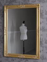 Badspiegel Gold Barock Spiegel Wandspiegel Dekospiegel Antik Badezimmerspiegel