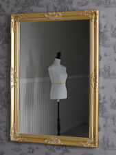 Baroque Mirror Antique Gold Wall Floor 103 x 73cm Goldspiegel