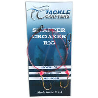 Saltwater Fishing Rig Tackle Gear Surf Pier Snapper Croaker Rig Hooks (6 Pack)