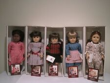 """1990's American Girl Doll Lot Of Five 18"""" Dolls And The Matching 6"""" Dolls"""