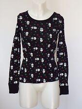 Holiday shirt Women Long Sleeve Next Era Couture Christmas Graphic Black Large