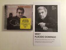 Signed Domingo, Placido-The Essential Placido Domingo  CD NEW + Flyer And Photos