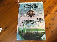 Holden Monaro gts gmh torana hq games room bar man cave pool room flag poster