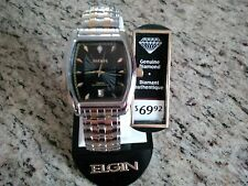 New Men's Elgin Two-tone expansion watch genuine diamond FREE SHIPPING in NA