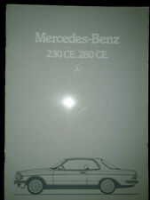 Mercedes-Benz 230 CE & 280 CE Brochure 1983