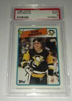 ROB BROWN - 1988/89 TOPPS - #109 - PSA 9 MINT - PENGUINS -